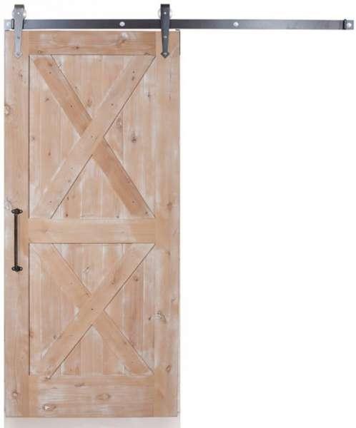 KOLOR rustikale Schiebetür aus Eichenholz mit Farb- und Optikauswahl