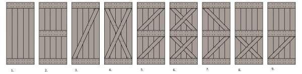 KOLOR rustikale Schiebetür aus Eichenholz,Komplettset mit Schiebesystem