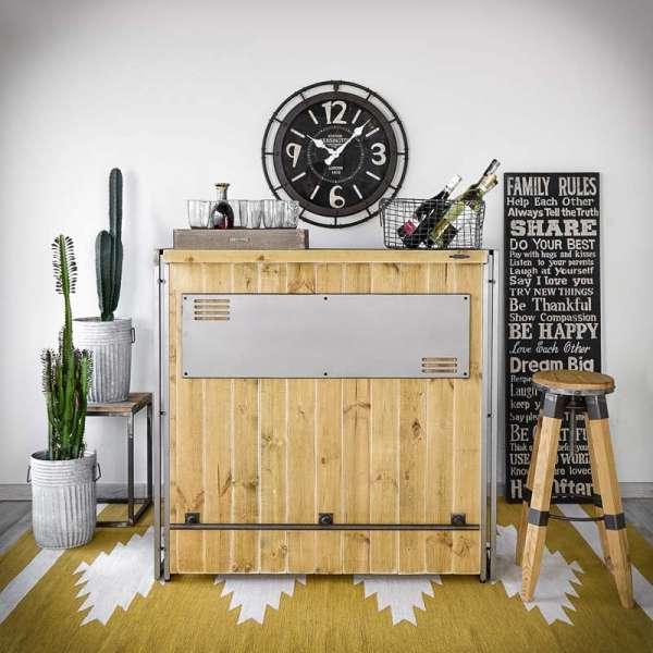 STEEL WOOD Bar Buffet Konsole LOFT Industrial -LoftMarkt