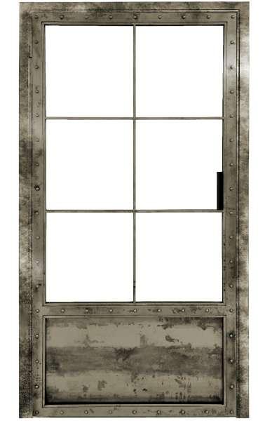 LOFT FRENCH KNASTI Drehtür aus Stahl und Glas mit Auswahlmöglichkeiten
