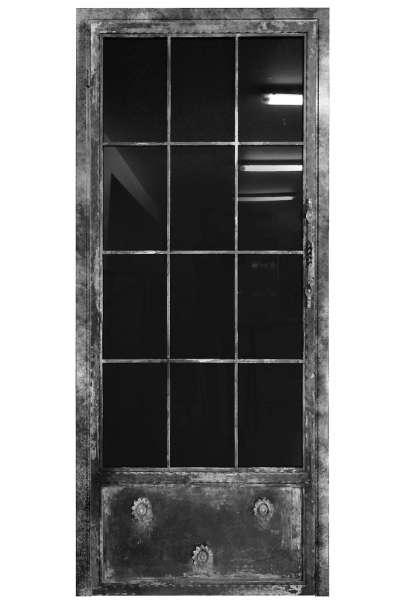 LOFT FRENCH NOSTALGIE Drehtür aus Stahl und Glas mit Auswahlmöglichkeiten