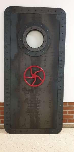 U-BOOT stalowe drzwi przesuwne, industralne