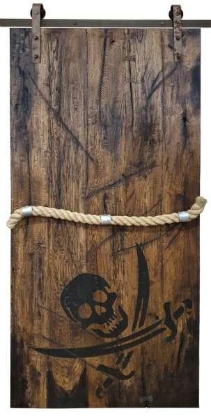PIRATE BAY - Skrzydło drzwi przesuwnych z antycznego dębu