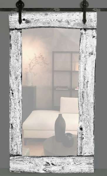 MIRROR Schiebetür aus Eichenholz mit Spiegel