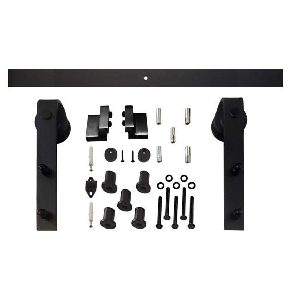 BASIC Schiebetürsystem, aus Stahl in Mattschwarz