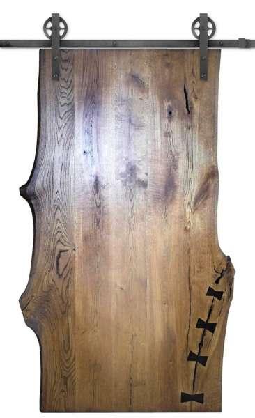 LIVE EDGE Drzwi przesuwne z drewna dębowego Oferta specjalna - unikaty