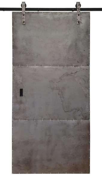 METALL by STRONGROOM Schiebetür aus antikisiertem Blech im Industriestil