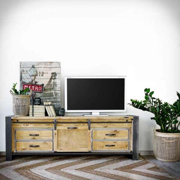 FACTORY 180 Loft Fernsehschrank, Lowboard Sideboard Industrial