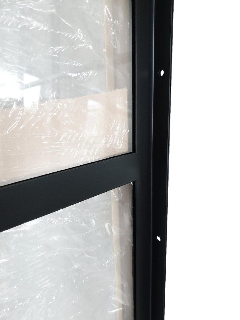 LOFT MOD 02 Schiebetür Komplettset Stahl Glas Industrial Farbauswahl