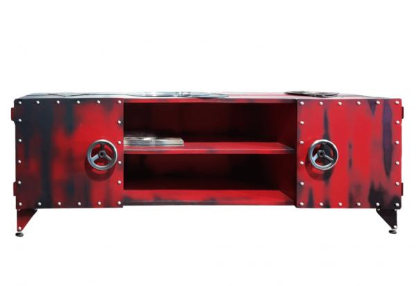 LOFT FRENCH FIRE DEPT 10 Lowboard aus Stahl und Blech Industrial, Farbauswahl