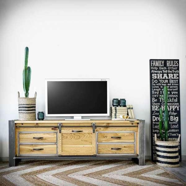 FACTORY PREMIUM Lowboard 2, Fernsehschrank im Industriellen Stil -LoftMarkt