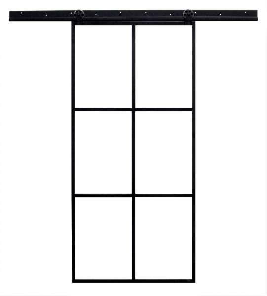 LOFT FRENCH MOD 01- Schiebetür Komplettset Stahl Glas Industrial