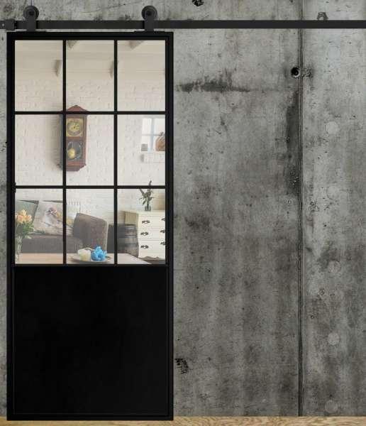 LOFT FRENCH 05 Schiebetür aus Stahl, Glas und Blech, Auswahlmöglichkeiten