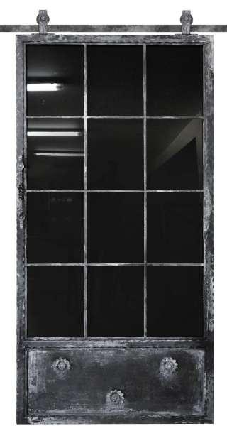 LOFT FRENCH NOSTALGIE Schiebetür aus Stahl und Glas mit Auswahlmöglichkeiten