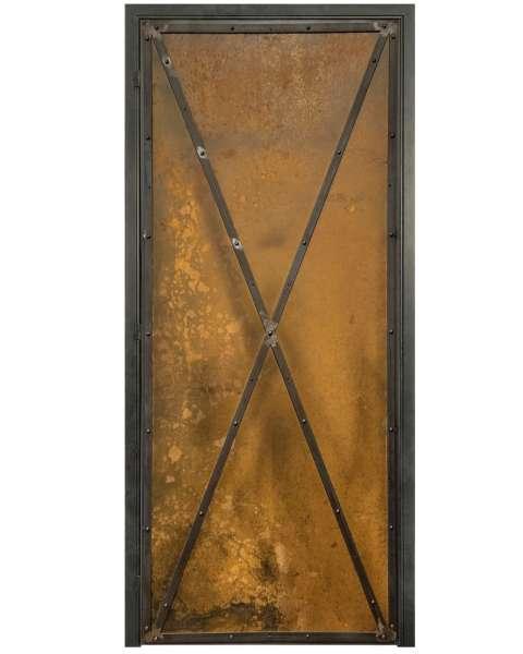 RUSTY METALL Drehtür mit Rostoptik und Auswahlmöglichkeiten